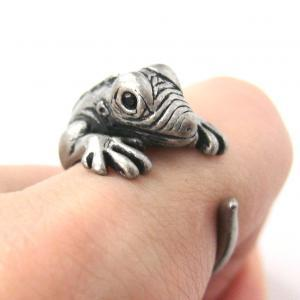 Iguana Chameleon Animal Wrap Ring i..