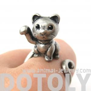 Realistic Fortune Kitty Cat Animal ..