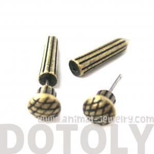 3D Fake Gauge Nail Shaped Taper Fau..