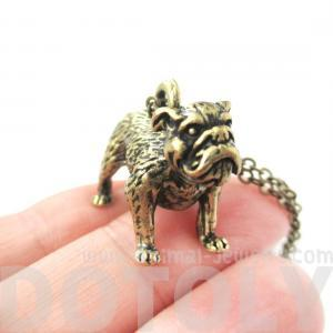 3D Detailed Bulldog Animal Charm Do..
