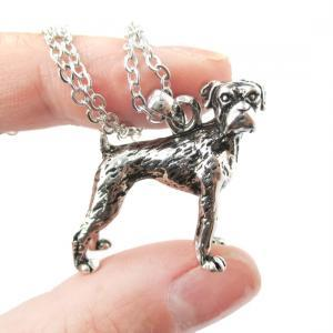 3D Detailed Boxer Dog Animal Charm ..