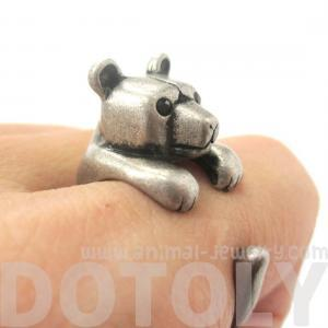 3D Miniature Polar Bear Teddy Anima..