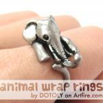 Realistic Elephant Animal Wrap Arou..