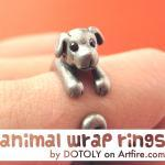 Realistic Puppy Dog Animal Pet Wrap..