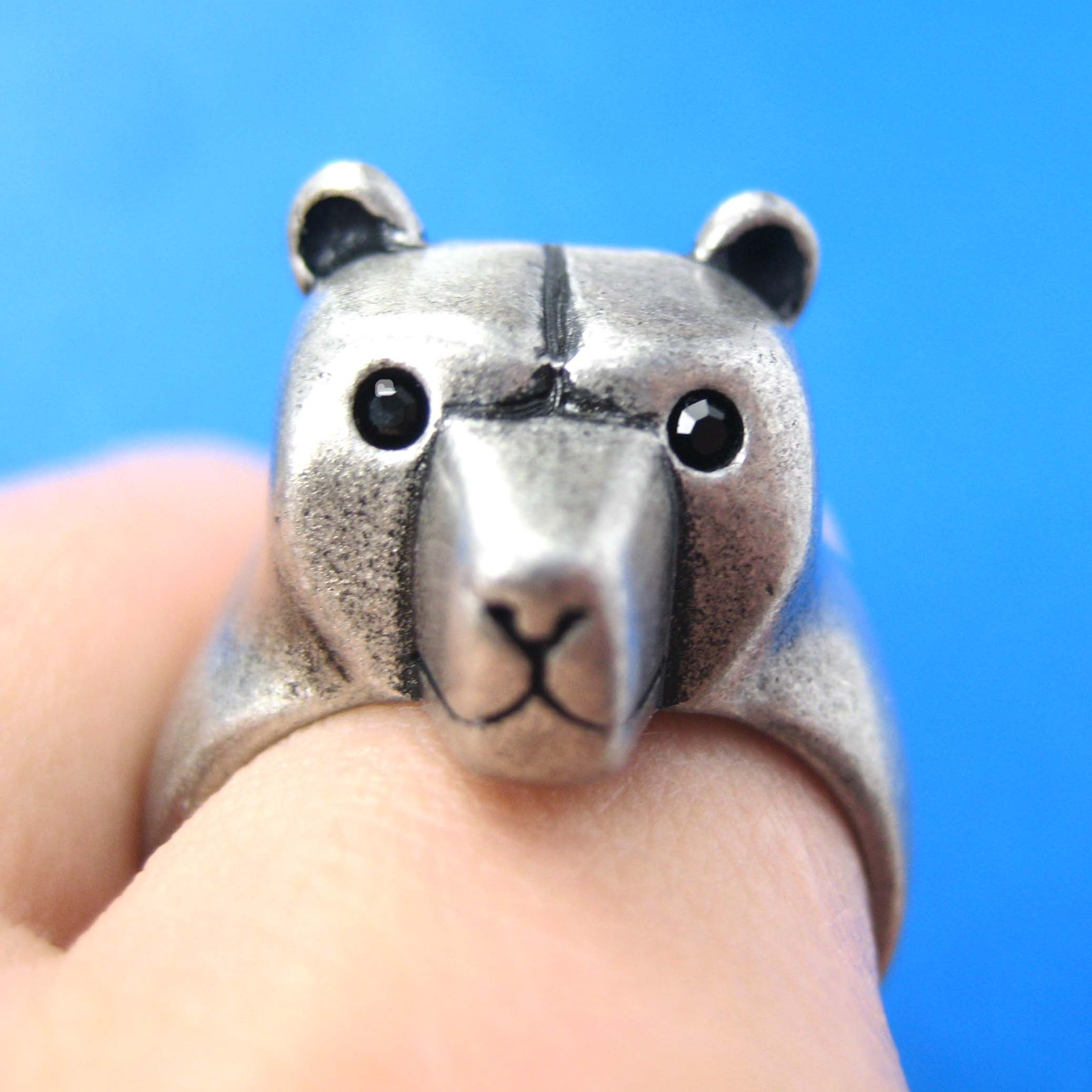 Bear In Hing Reng 2: 3D Adjustable Polar Bear Teddy Animal Wrap Around Hug Ring